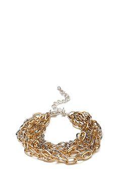 Chain Linked Bracelet | FOREVER21 - 1000087662