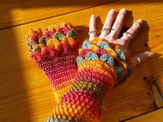 FABULOUS Wrist Warmers at  https://www.etsy.com/listing/269214512/crocodile-stitch-wrist-warmers