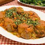 Osso Buco recipe - Canadian Living    I actually use pork tenderloin instead of the veal. Always delicious.