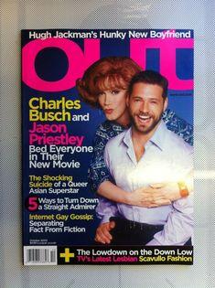 OUT - GAY Magazine 2003 AUDREY HEPBURN - 2 mags for price of one. Ref 001 Lesbian, Gay, Jason Priestley, New Boyfriend, Hugh Jackman, Audrey Hepburn, New Movies, Superstar, Fiction