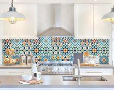 """Doha"" Pvc tiles for bathroom tiles and kitchen Ceramic decorations various sizes Home Decor Kitchen, Diy Kitchen, Kitchen Interior, Home Kitchens, Kitchen Backsplash Inspiration, Contemporary Kitchen Backsplash, Kitchen Wall Tiles, Stickers Design, Moroccan Home Decor"