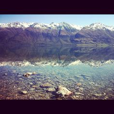 Crazy relflections on a bluebird spring day near Glenorchy! Spring Day, Blue Bird, Grand Canyon, Mountains, Instagram Posts, Holiday, Nature, Travel, Beautiful