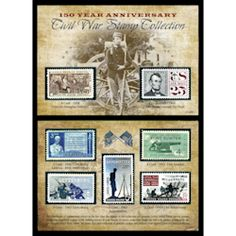 Honor America's past with this 150th Anniversary Civil War Commemorative Stamp Collection. #stamps #coingifts #collectibles