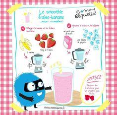 Le smoothie fraise-banane http://annso-cuisine.fr