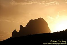Cerro Guadalupe silhouetted at sunset, Rio Puerco Valley, New Mexico. IMG_E_01607 by The Bright Edge - Photography by Anne Slattery, via Flickr