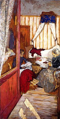 Before the Door / Edouard Vuillard - 1910