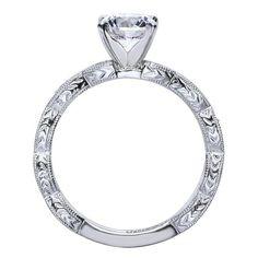 14k White Gold Diamond Straight Engagement Ring | Gabriel & Co NY | ER4122W44JJ