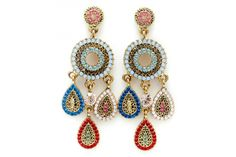 Civetta Spark statement earring - made with Swarovski Elements Crystal in colour B by Civetta Spark