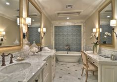 Spectacular master bathroom.