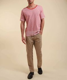 Cody jersey T-shirt in orange red   J.Lindeberg