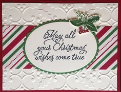 Black Kat Stamp Designs: Christmas Wishes ; Stampin up; Peace this Christmas stamp set