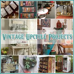 The Cottage Market: Vintage Upcycle Project DIY's Vintage Upcycling, Upcycled Vintage, Upcycling Ideas, Diy Projects To Try, Home Projects, Furniture Makeover, Diy Furniture, Vintage Home Decor, Diy Home Decor