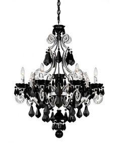 Interesting black and silver schonbek chandelier
