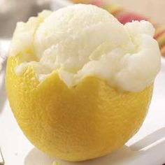 Lemon sorbet is the perfect summer treat