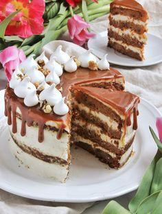 Fahéjas-narancsos-diós répatorta   Ízből tíz Sweets Recipes, No Bake Desserts, Cookie Recipes, Eat Dessert First, Wedding Desserts, Sweet Cakes, Sweet Bread, Cakes And More, Quiche