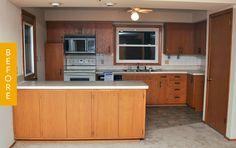 Before & After: An Impressive DIY Cabinet Makeover — Kitchen Remodel