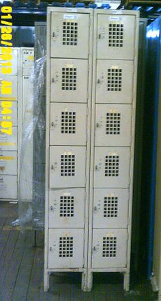 Used lockers for sale by American Surplus Inc. Lockers For Sale, Used Lockers, Door Locker, Half Doors, Personal Storage, Box, Snare Drum