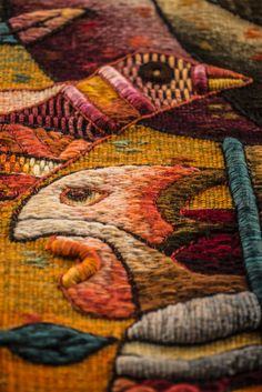 "Handwoven Tapestry by Maximo Laura ""Spiritual Chants to our Roots"". Tapestry Detail."