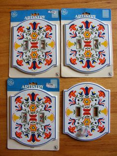 Vintage NIP New Old Stock 1977 Pennsylvania Dutch Painted Metal Double Light Switch Plate on Etsy, $12.00
