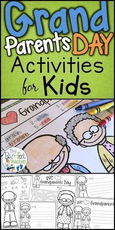 grandparents day gifts Check out these cute Grandparents Day activities for your Preschool, Kindergarten, and even First Grade kids. They'll go perfect with the other arts and cr Grandparents Day Poem, Grandparents Day Activities, National Grandparents Day, Kindergarten Readiness, Preschool Kindergarten, Preschool Activities, Spring Activities, Children Activities, Kindergarten Worksheets