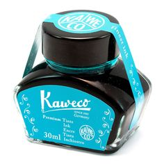 Kaweco Fountain Pen Ink Bottle, Turquoise shares its exuberant color through any…