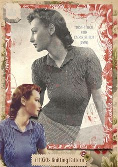 Vintage 1930s WWII Lady's Retro Knitting Pattern Moss Cross Cable Jumper 1940s | eBay
