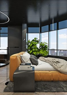 Dramatic interior of a charismatic bachelor on Behance Contemporary Interior Design, Cozy House, Beautiful Homes, Sweet Home, Behance, Nursery, Architecture, Jimin, Bts
