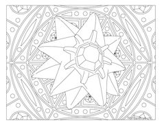 #Starmie from the official artwork set for #Pokemon Red