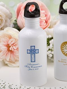 Personalized First Holy Communion Party Favors Water Bottle