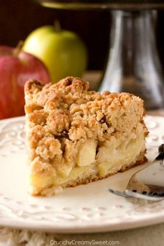 recipe: crustless apple pie with crumb topping [17]