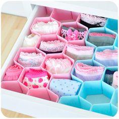 Nc DIY divisor de cajón para calcetines, ropa interior organizador cajas de almacenamiento Tidy placa cajón organizador 8cs / set en Cajas y Papeleras de Almacenamiento de Casa y Jardín en AliExpress.com | Alibaba Group