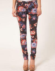 asos floral skinny jeans #4