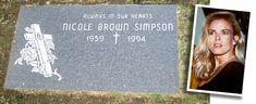 Nicole Simpson Famous Tombstones, Carotid Artery, Famous Graves, Cemetery Art, Grave Memorials, Magic Kingdom, Famous People, The Outsiders, Cervical Vertebrae