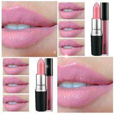 (MN My runner lipstick with my favorite lipgloss is Mac Angel lipstick & Rags to Riches dazzleglass) Kiss Makeup, Mac Makeup, Love Makeup, Makeup Tips, All Things Beauty, Beauty Make Up, Mac Angel Lipstick, Barbie Makeup, Pink Lipsticks