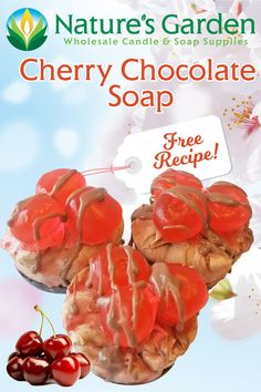 Free Cherry Chocolate Soap Recipe by Natures Garden