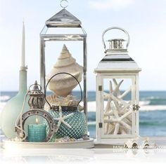 Deniz kabuğu ile ev dekoru