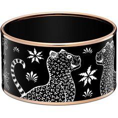 Hermès Les Léopards Bracelet ($700) ❤ liked on Polyvore featuring jewelry and bracelets