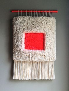 Woven wall hanging / Furry Geometric n.6 // Handwoven by jujujust
