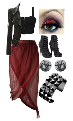 """""""Untitled #272"""" by bleeding-neverland on Polyvore featuring Romeo Gigli, Element, Gucci, anzu jewelry and Waterford"""
