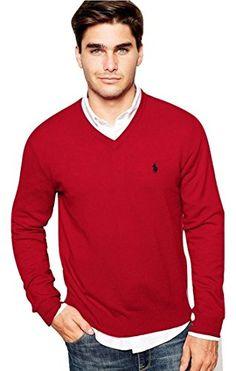POLO RALPH LAUREN Polo Ralph Lauren Mens Pima Cotton V-Neck Sweater. #poloralphlauren #cloth #