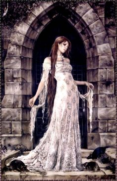 Artist Victoria Frances -- takes gothic romance to another level. Dark Fantasy Art, Fantasy World, Dark Art, Gothic Vampire, Vampire Art, Arte Obscura, France Art, Luis Royo, Goth Art