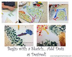 Easy Pointillism for Kids Harrington Harmonies - Teaching kids Seurat