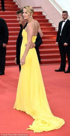 I love a good train! Charlize Theron, Sean Penn at Cannes Film Festival.