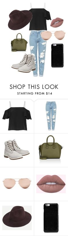 """Sin título #2"" by alexandraravl on Polyvore featuring moda, Fendi, Topshop, Timberland, Givenchy, Linda Farrow y Maison Margiela"