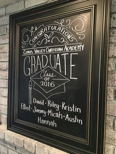 Graduation Chalkboard Art #graduationchalkboard