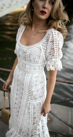 30 dresses in 30 days Day Rehearsal dinner for the bride // White Floral … Rehearsal Dinner Bride Outfits, White Rehearsal Dress, Rehearsal Dinners, Nyc Fashion, Boho Fashion, Style Fashion, Korean Fashion, Fashion Dresses, Fashion Tips