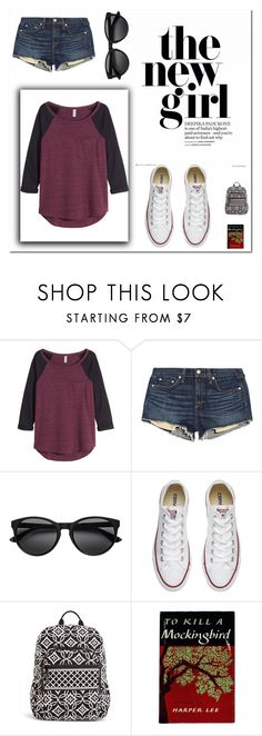 """""""new girl"""" by a-hidden-secret ❤ liked on Polyvore featuring H&M, rag & bone/JEAN, Converse and Vera Bradley"""