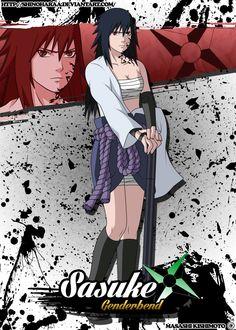 This was a commission - Sasuke Uchiha is from Naruto Genderbend byme I wanted to thankagain to let me use her genderbend Sasuke pose ^^ Naruto Girls, Naruto Art, Anime Naruto, Naruto Images, Naruto Pictures, Sasuke Uchiha, Shikamaru, Gender Bender Anime, Super Anime