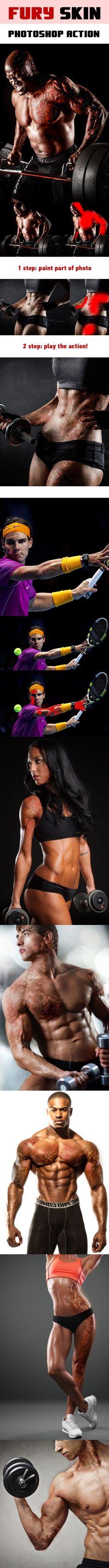 Fury Skin Photoshop Action. Download here: http://graphicriver.net/item/fury-skin/15762471?ref=ksioks
