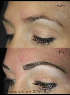 Hairstroke eyebrows, permanent make up, cosmetic tattooing, eyebrow tattooing.